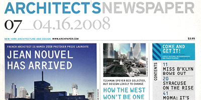 ArchNewsApr2008 MERGE Featured in the Architects Newspaper