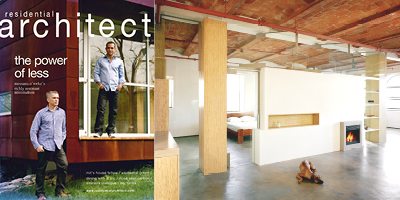 ResArchJune2008 Melia Loft Published in Residential Architect