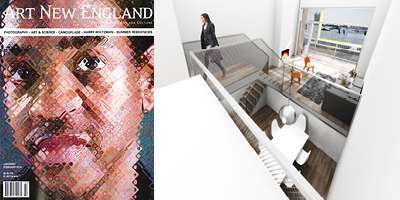 ArtNewEnglandJan2014 MERGE Featured in Art New England Magazine